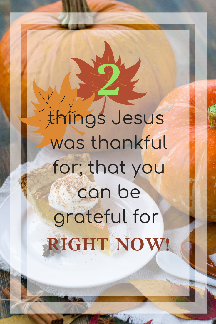 Two things Jesus was thankful for; that you can be grateful for right now!