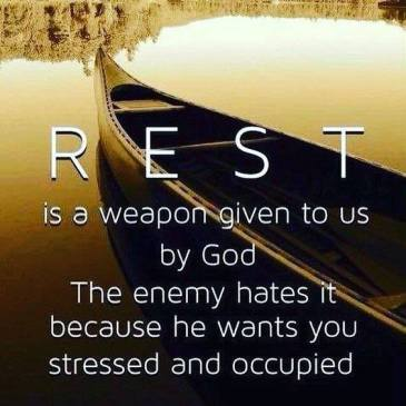 rest is a weapon
